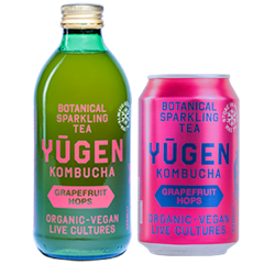 Yugen Kombucha Grapefruit Hops bottle